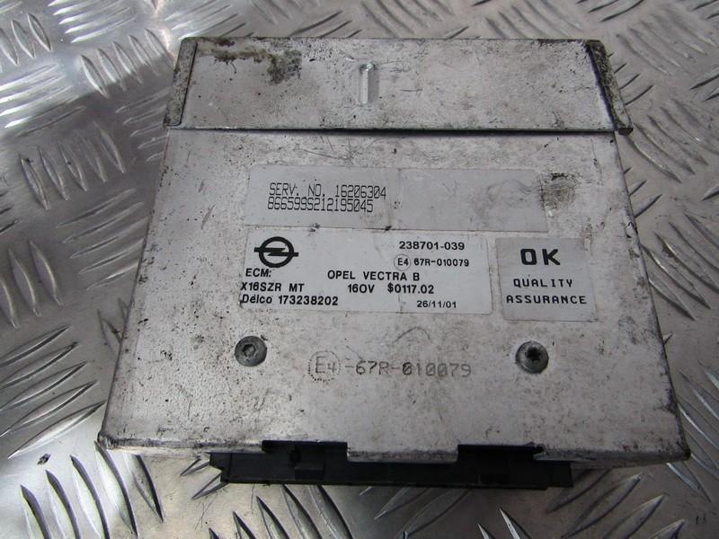 Kiti kompiuteriai 173238202 X16SZR, 16206304, 238701-039 Opel VECTRA  2.0