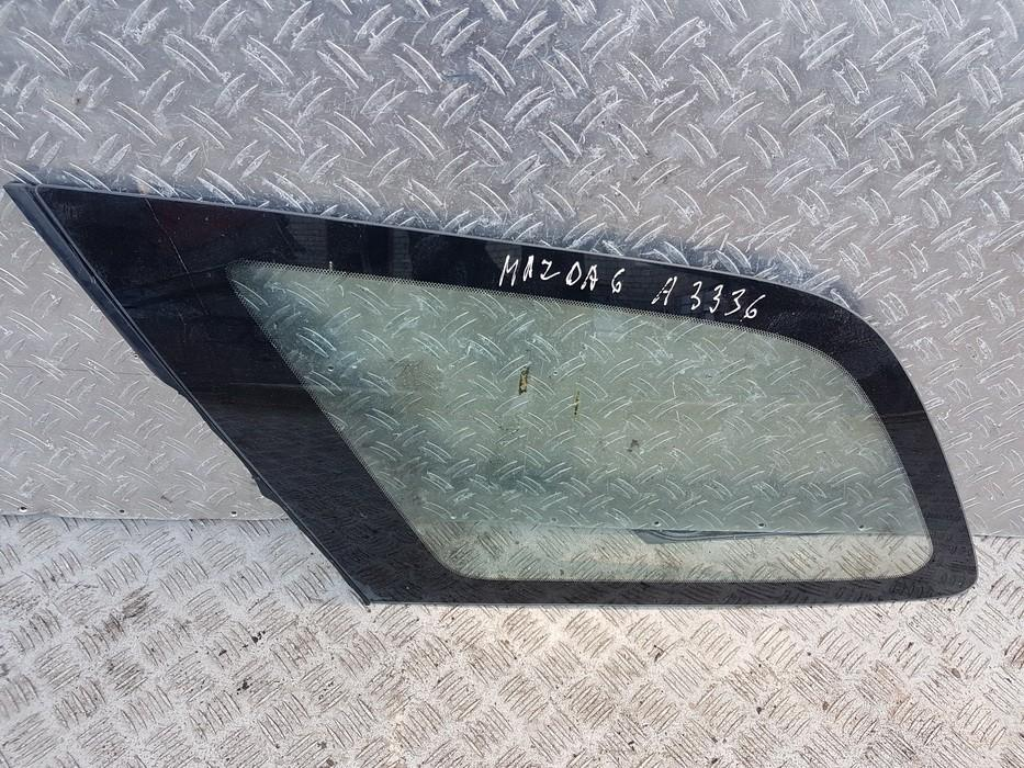 Rear Left driver side corner quarter window glass  used used Mazda 6 2014 2.2