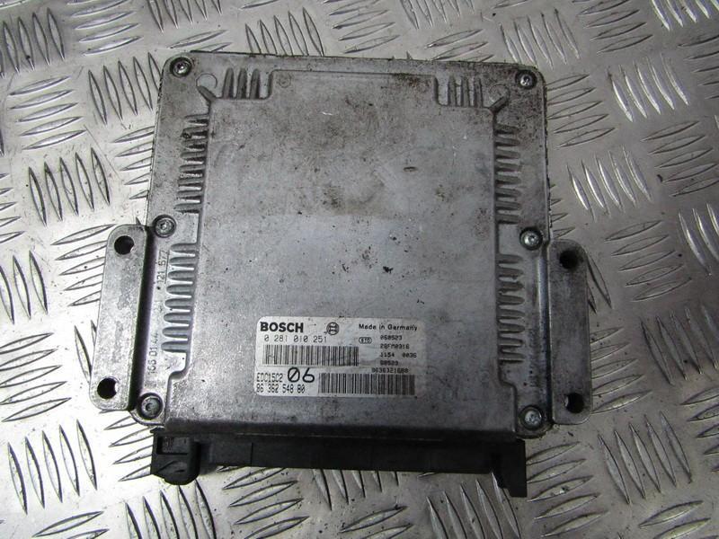 Блок управления двигателем 0281010251 9636254880, 9636321680, edc15c206 Peugeot 406 1998 2.1