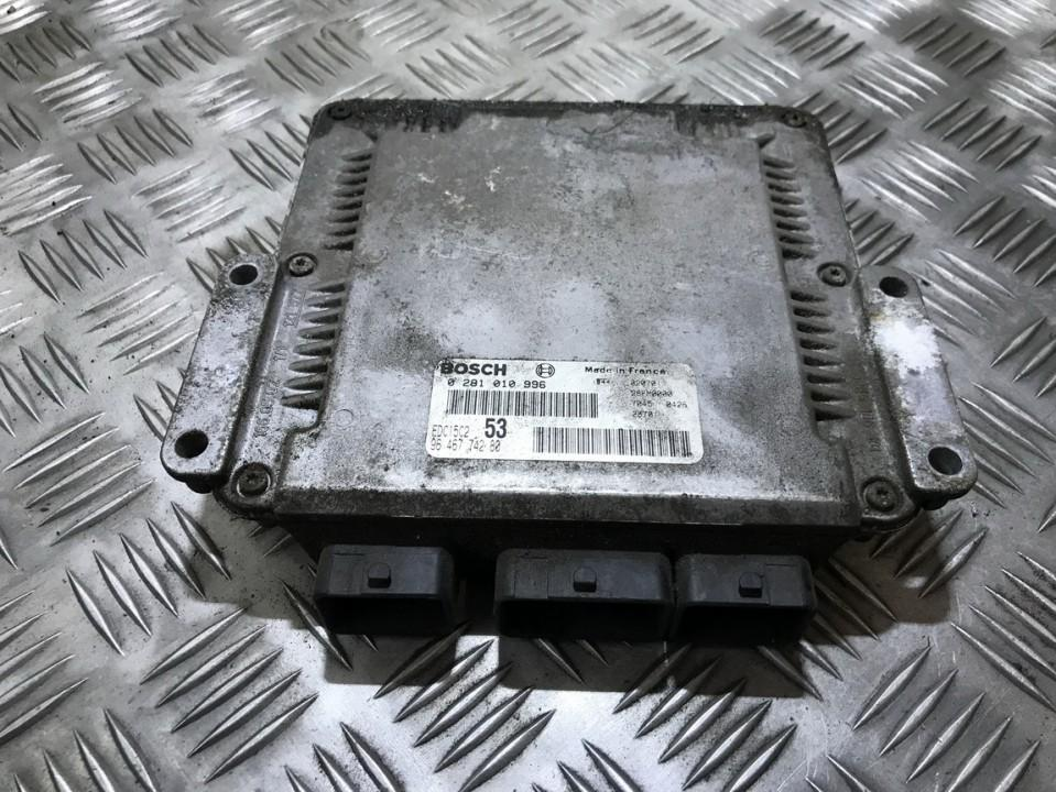 Variklio kompiuteris 0281010996 9646774280, 28fm0000, 70450426, edc15c253 Citroen XSARA PICASSO 2006 1.6