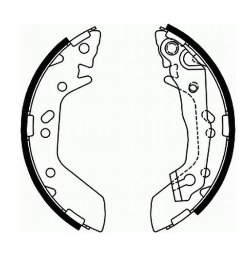 Brake Shoe Kit Hyundai Accent 1995    1.3 0986487655