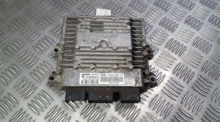 Блок управления двигателем SW9650517880 HW9647423380, 5WS40049C-T, 5WS40049CT Peugeot PARTNER 2005 2.0