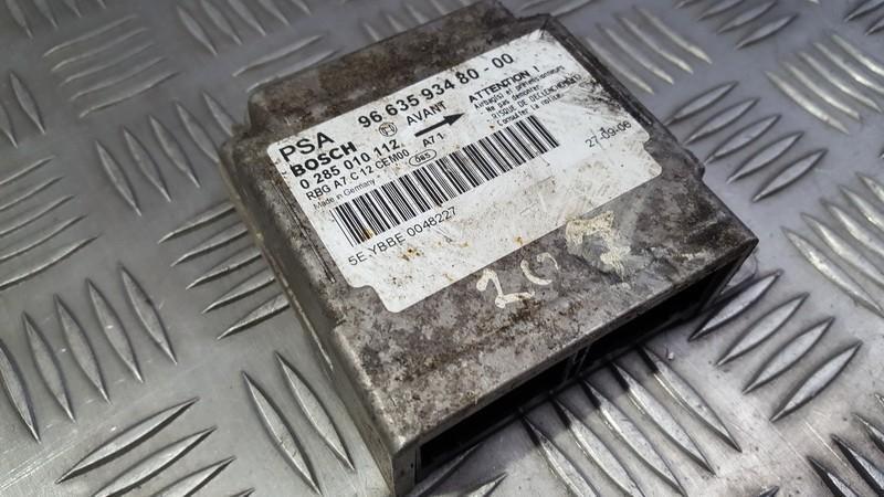 Блок управления AIR BAG  966359348000 9663593480-00, 0285010112 Peugeot 207 2009 1.4