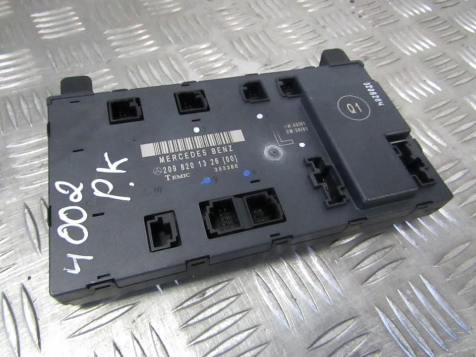 2098201326 used General Module Comfort Relay (Unit) Mercedes-Benz CLK-CLASS  2002 3 2L 72EUR EIS00429065 | Used parts Shop