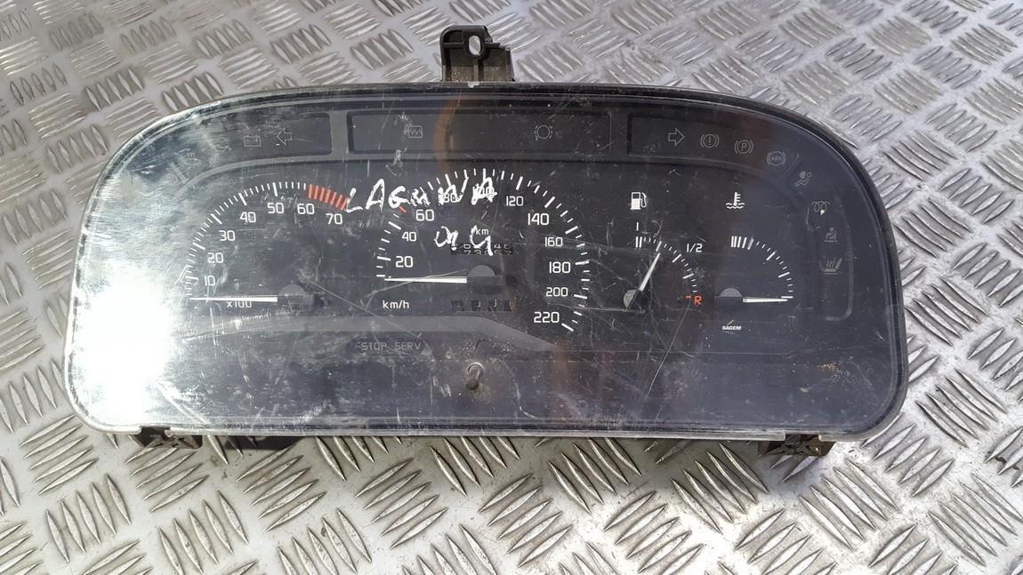 7700824301P 7700824301-P, 2157201191, 21572011-91 Spidometras - prietaisu skydelis Renault Laguna 1994 1.8L 12EUR EIS00429454