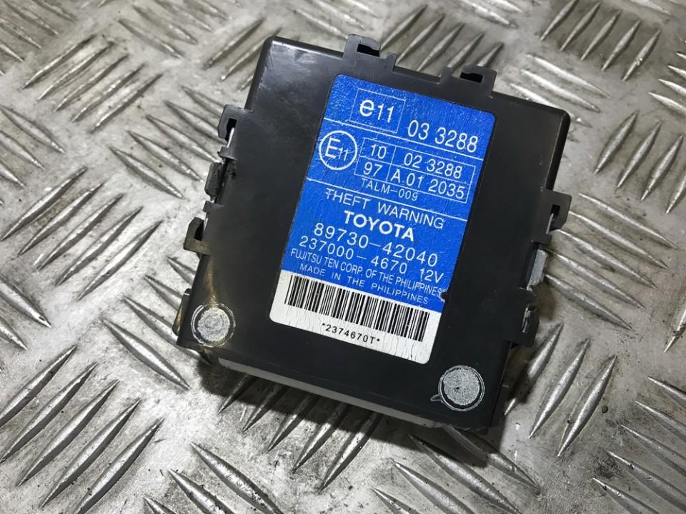 Kiti kompiuteriai 8973042040 89730-42040, 2370004670, 237000-4670 Toyota RAV-4 2003 2.0