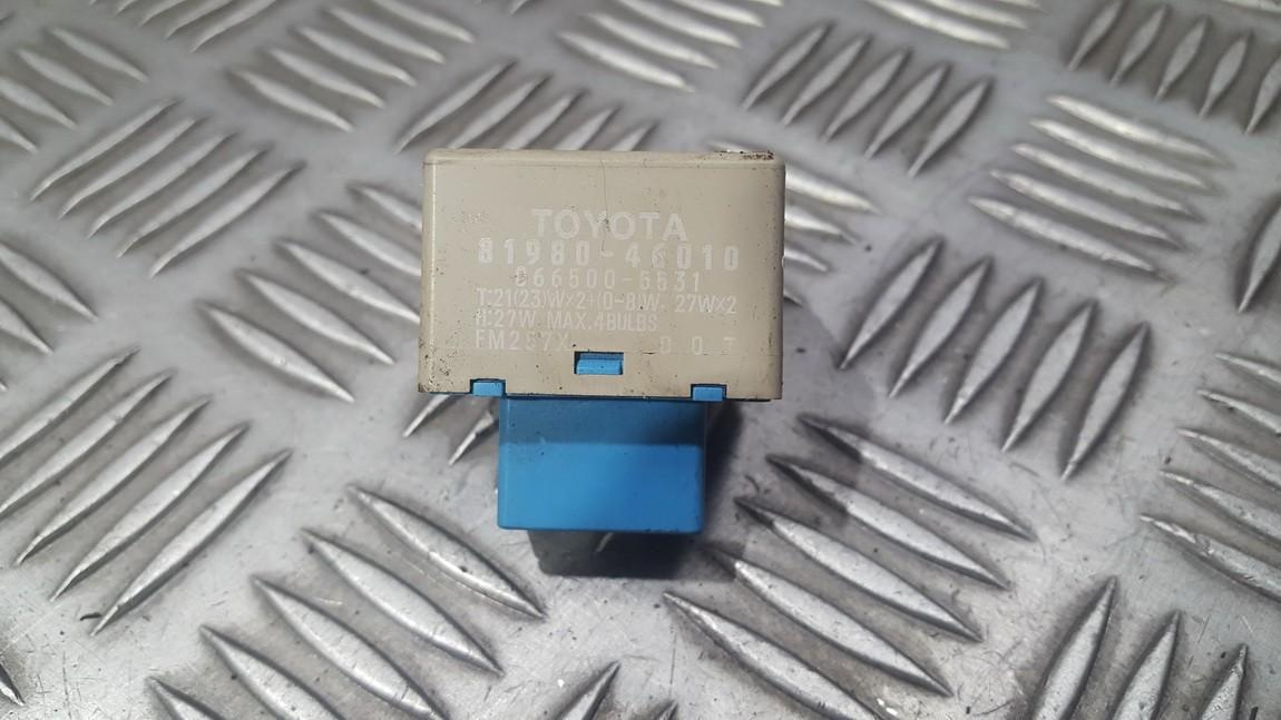 Relay module 8198046010 81980-46010, 066500-5531, 0665005531 Toyota AURIS 2008 2.0