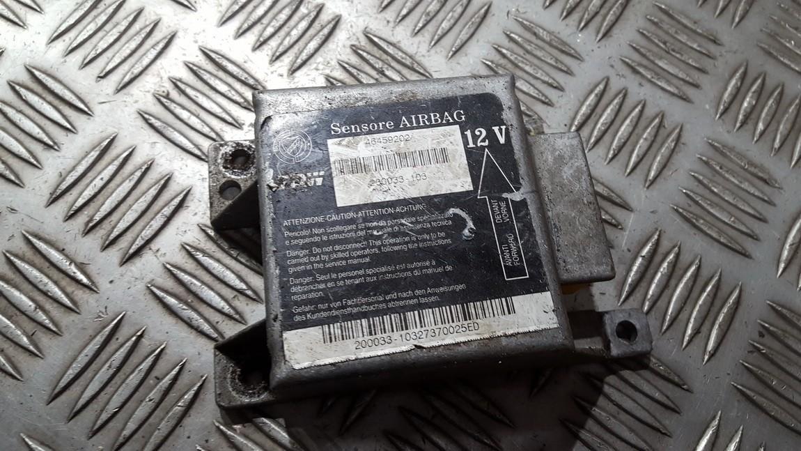 SRS AIRBAG KOMPIUTERIS - ORO PAGALVIU VALDYMO BLOKAS 46459202 200033-103 Lancia KAPPA 1995 2.0