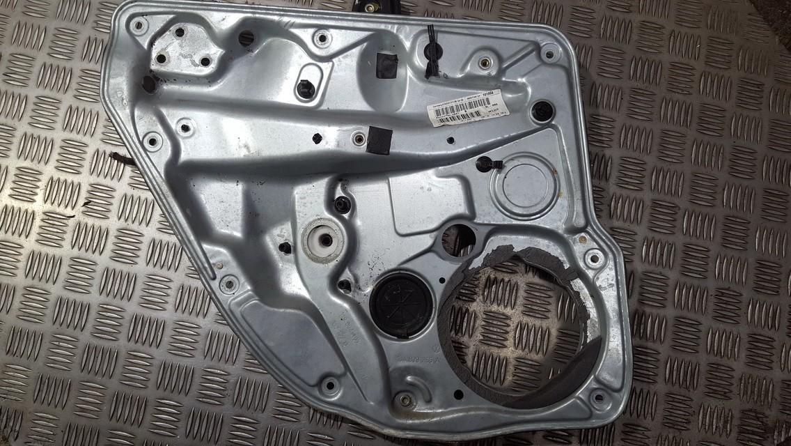 Door winder mechanism (Window Regulator) rear left side 1j4839755a used Volkswagen GOLF 1998 1.9