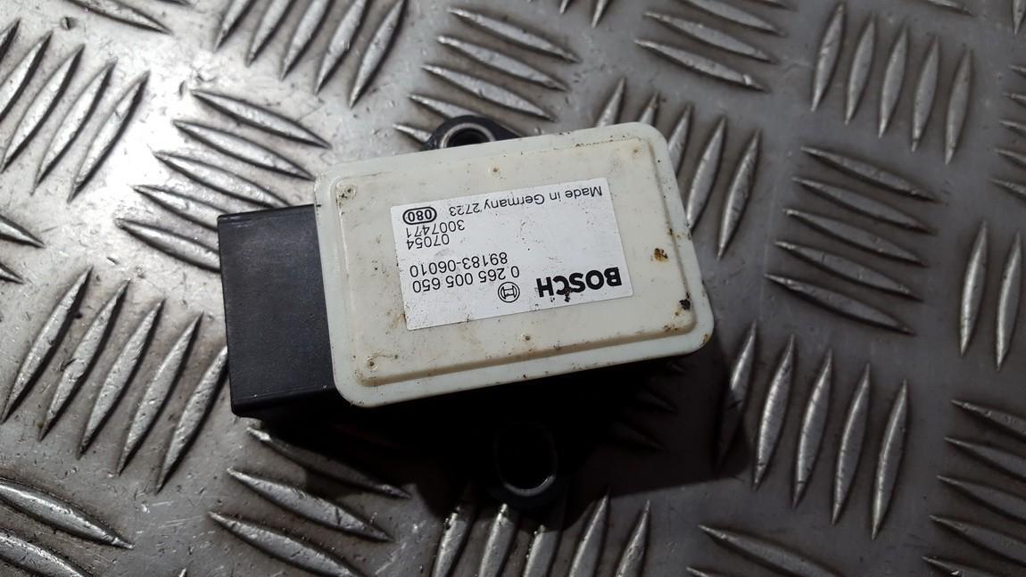 Esp Accelerator Sensor (ESP Control Unit) 0265005650 89183-06010 Toyota AURIS 2008 2.0
