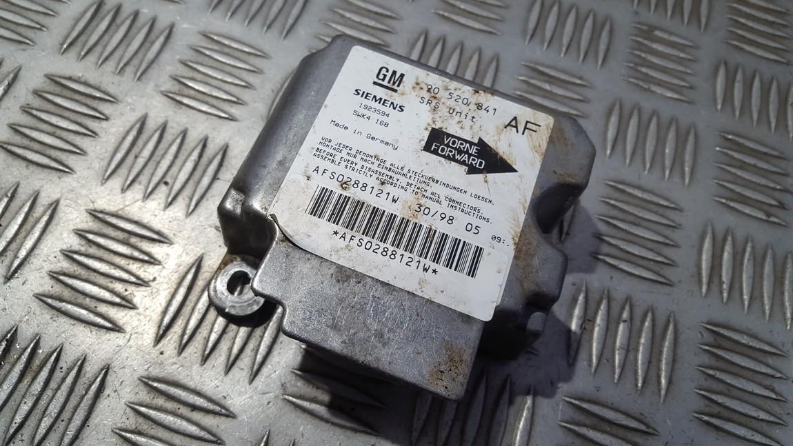 SRS AIRBAG KOMPIUTERIS - ORO PAGALVIU VALDYMO BLOKAS 90520841 5wk4168 Opel ASTRA 2002 1.7