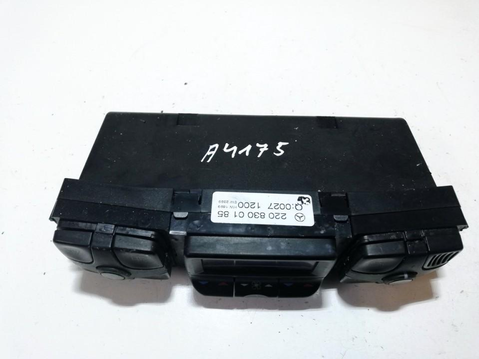 Climate Control Panel (heater control switches) 2208300185 hw1899, sw2399 Mercedes-Benz CL-CLASS 2000 5.0