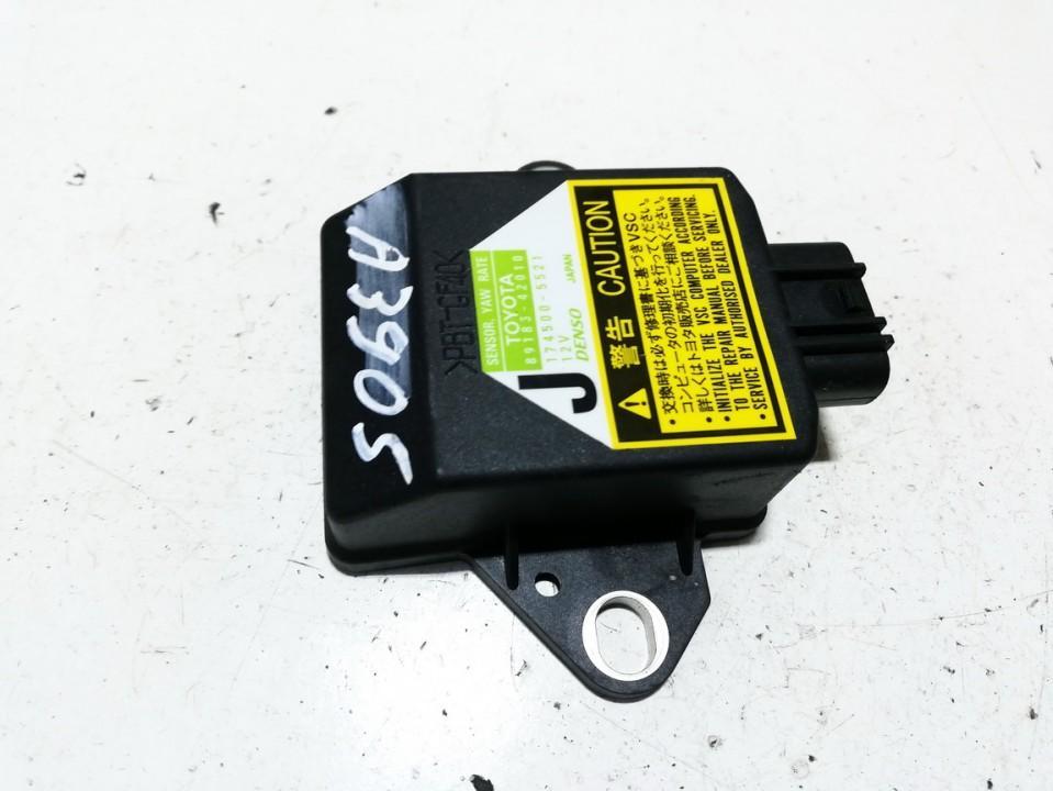 ESP greitejimo sensorius 8918342010 89183-42010, 1745005521, 174500-5521 Toyota RAV-4 2005 2.0