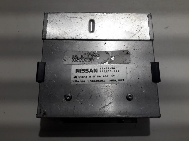 Variklio kompiuteris N15GA16DE 238702-027, 238702027, 173238202 Nissan ALMERA 2000 1.8