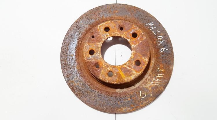 Galinis stabdziu diskas neventiliuojamas used Mazda 6 2002 2.3