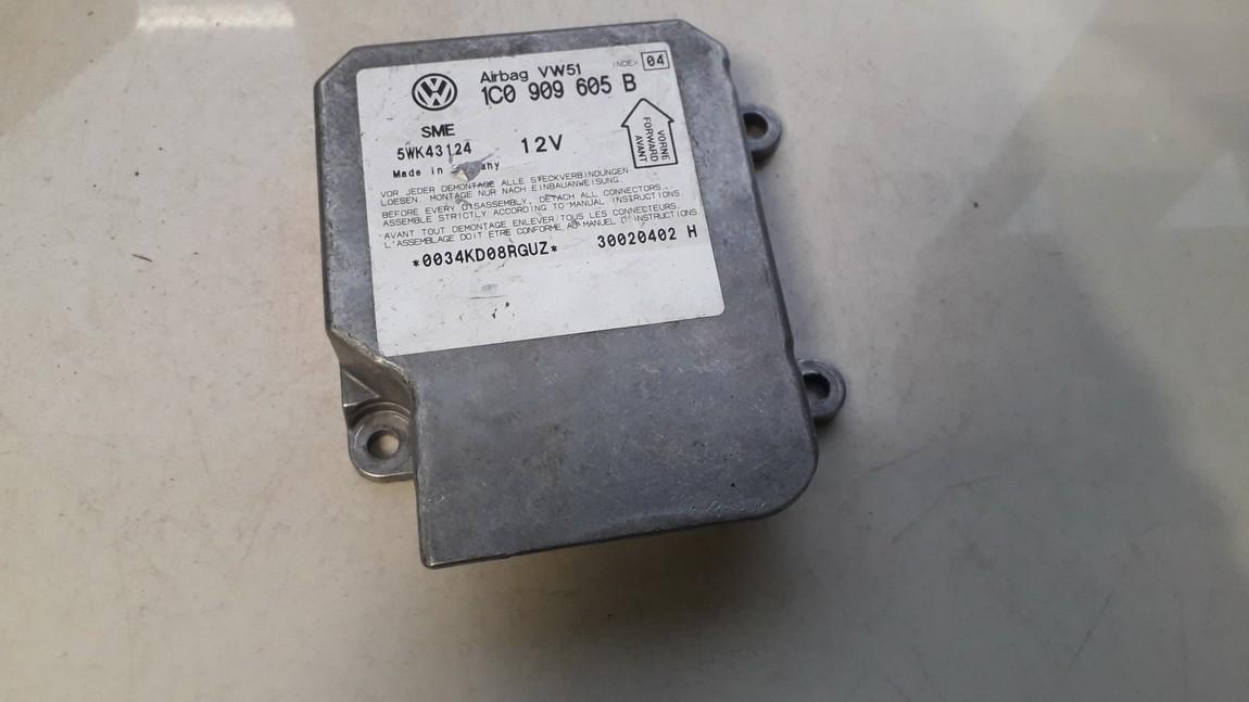 Блок управления AIR BAG  1c0909605b 5wk43124 Volkswagen GOLF 1992 1.4
