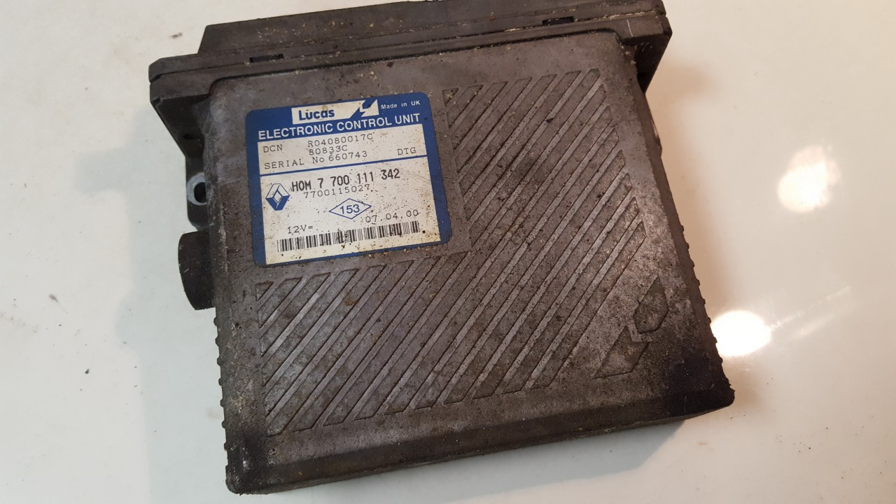 Variklio kompiuteris 7700111342 7700115027 Renault MEGANE SCENIC 1997 1.6