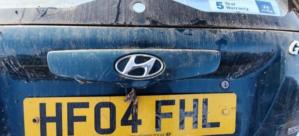 Hyundai  Getz Rear door handle tailgate boot trim strip cover