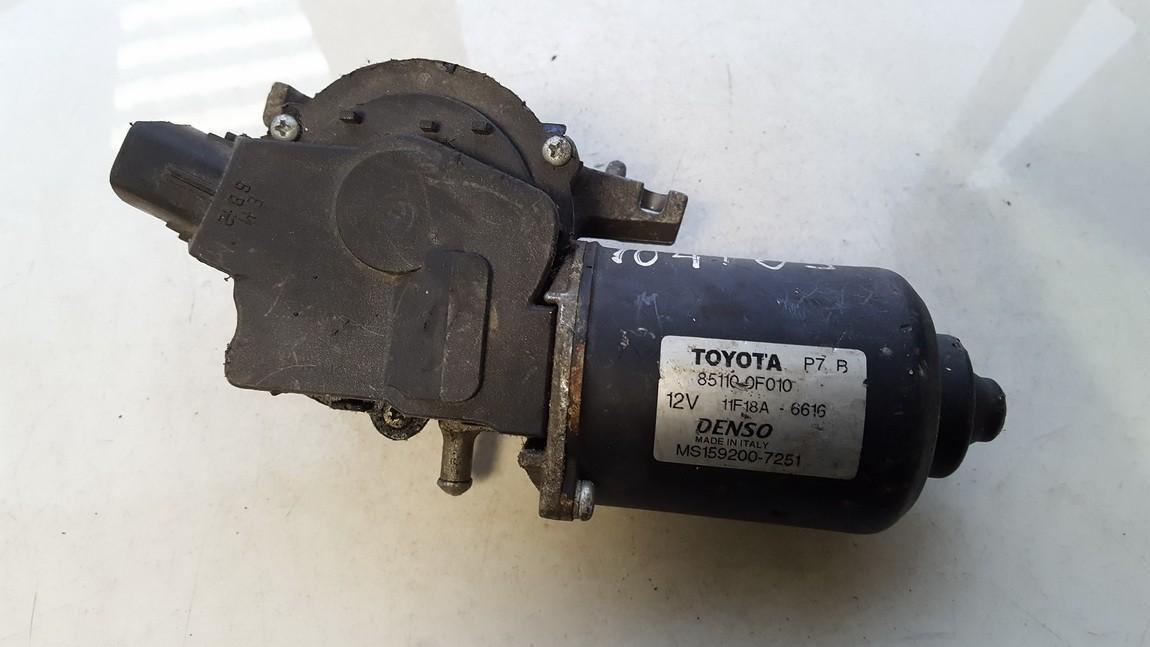Priekinis langu valytuvu varikliukas 851100F010 85110-0F010, MS159200-7251, MS1592007251 Toyota COROLLA VERSO 2005 2.0