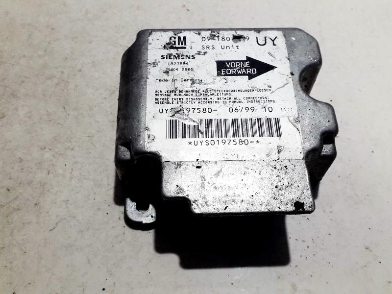 Блок управления AIR BAG  09180799 1923594, 5wk4 2905 Opel ASTRA 2002 2.0