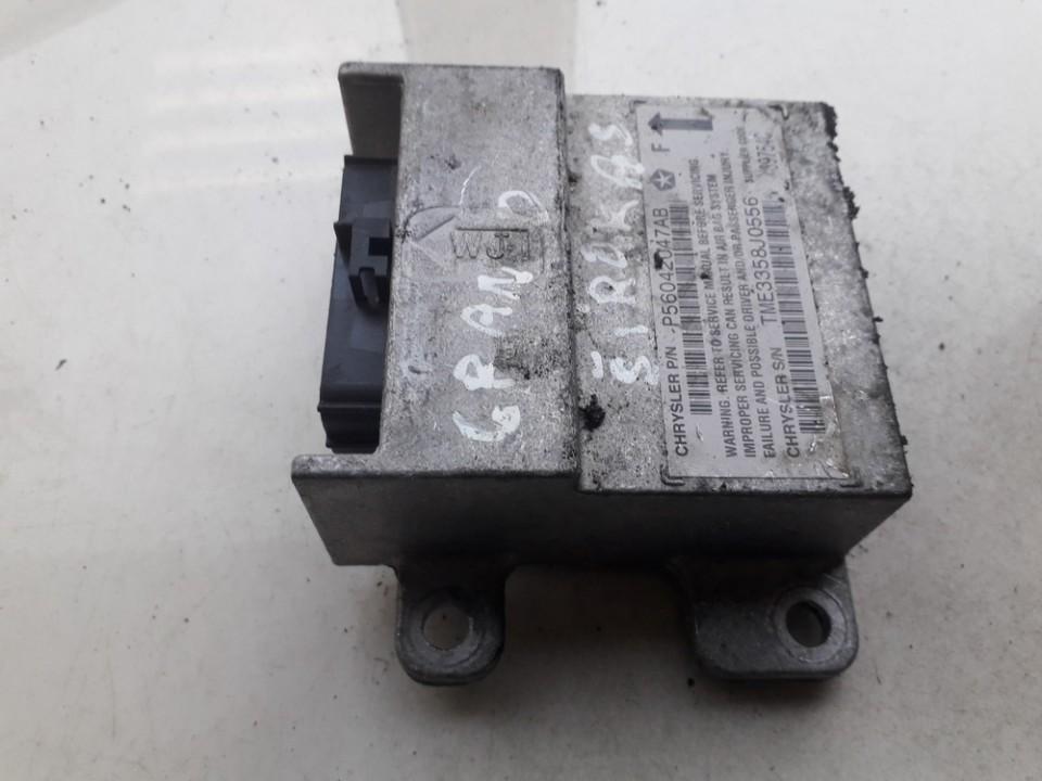 SRS AIRBAG KOMPIUTERIS - ORO PAGALVIU VALDYMO BLOKAS P56042047AB TME3358J0556 Jeep GRAND CHEROKEE 1999 3.1