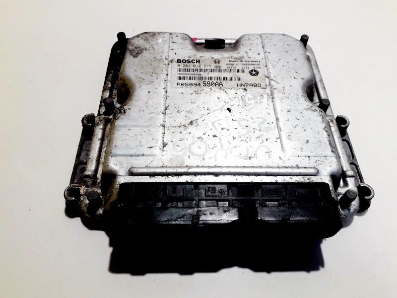 Variklio kompiuteris 0281012275 p05094 590aa, hn7ab0, 1039s08187, 58912 1112 0150 Chrysler VOYAGER 2001 2.5