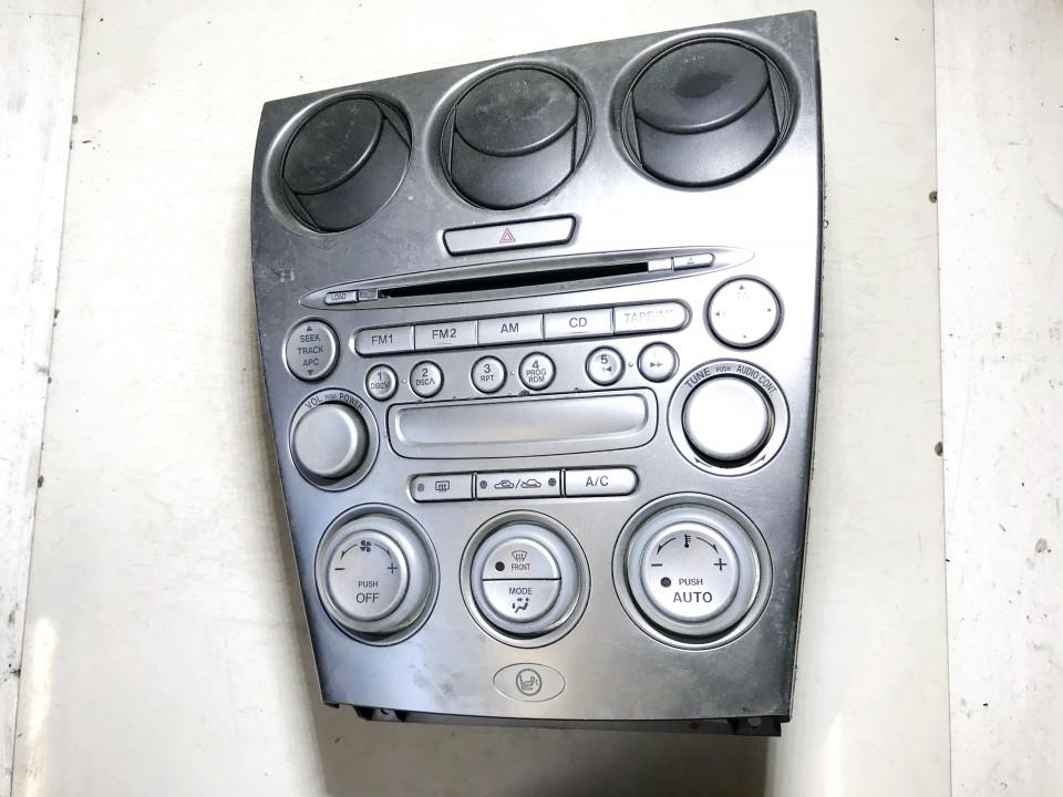 Peciuko valdymas ir automagnetola Mazda 6 2005    0.0 gj6j66dsxe02