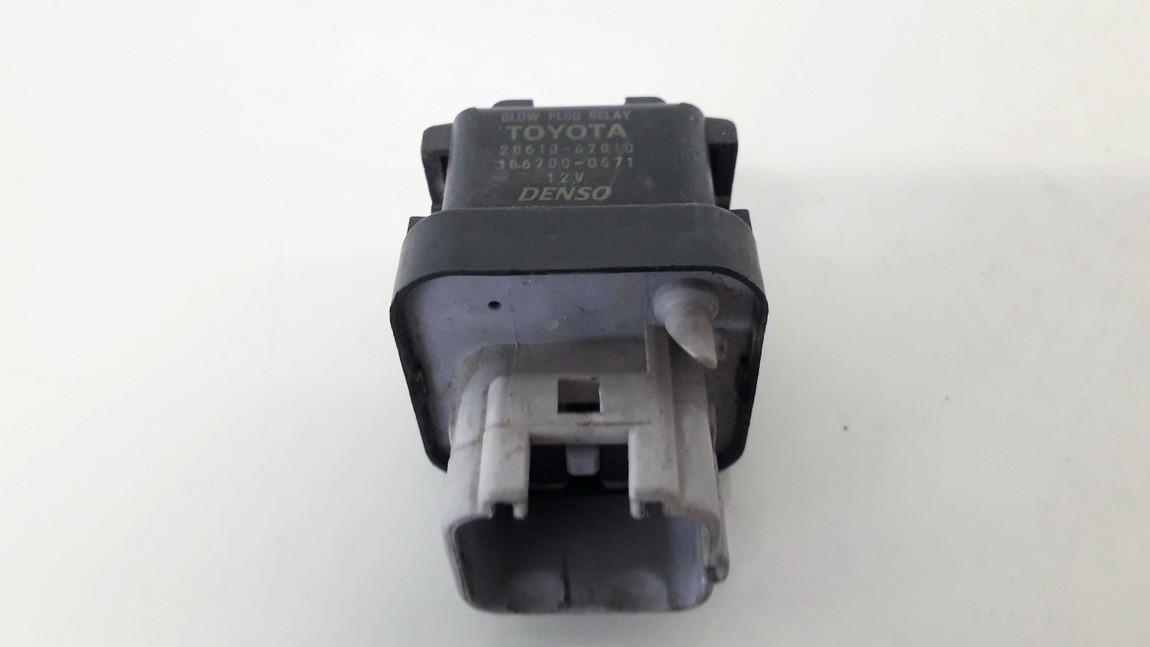 Glow plug relay Toyota Yaris Verso 2005    1.4 2860133010