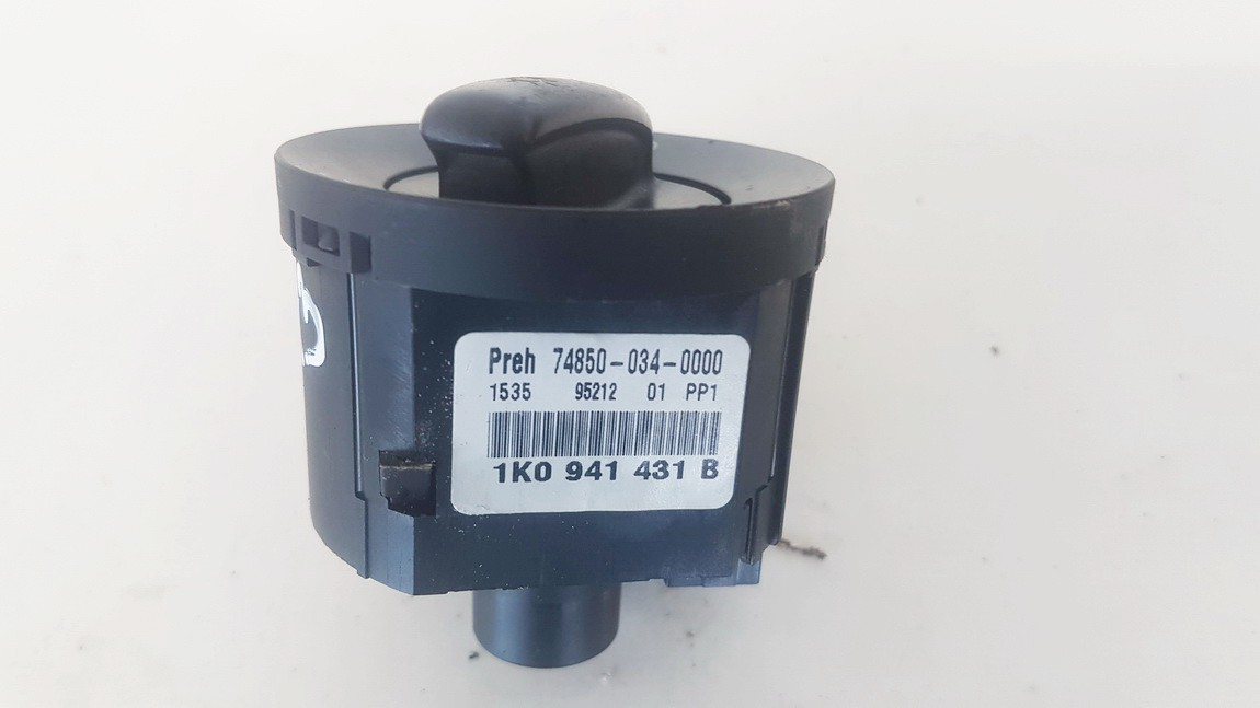 Headlight adjuster switch (Foglight Fog Light Control Switches) Volkswagen Passat 2005    1.9 1K0941431B