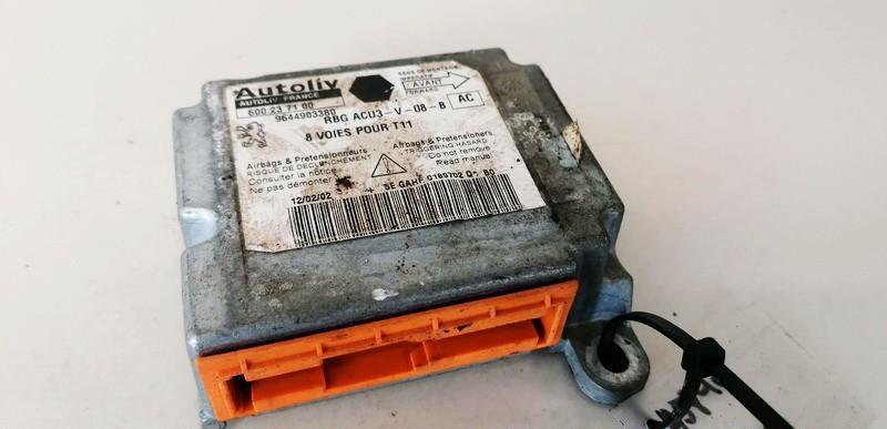 Airbag crash sensors module Peugeot 206 2002    1.4 9644903380
