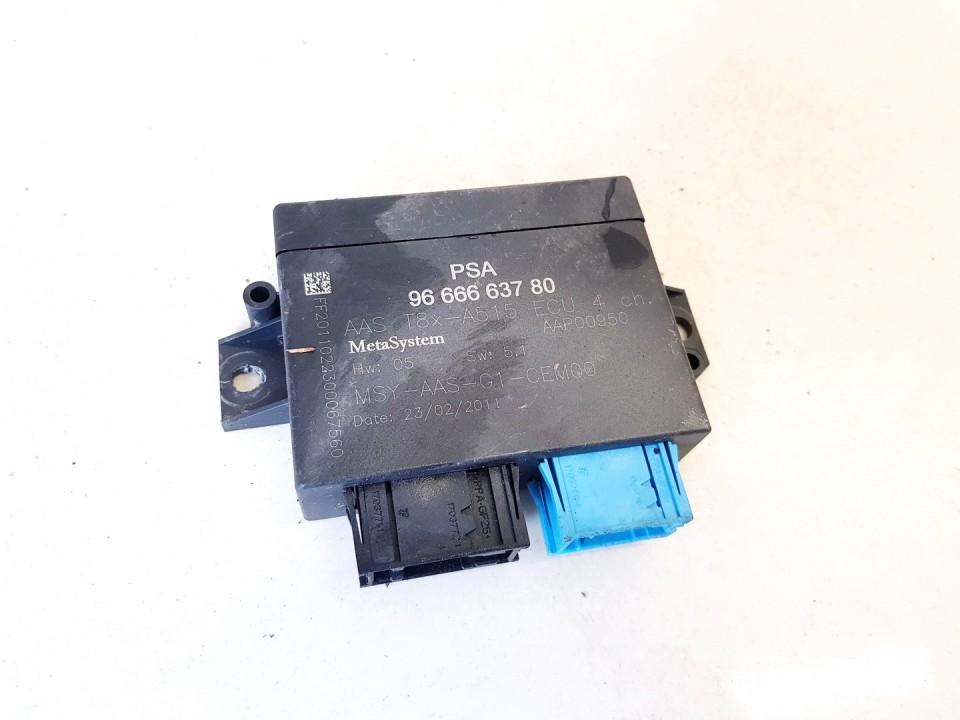 Control Unit Parking (Parking Assist Module) Peugeot 3008 2011    1.6 9666663780