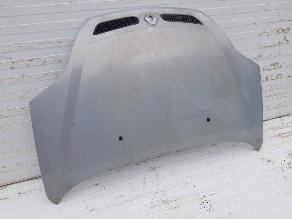 Kapotas (Variklio dangtis) Renault Scenic 2001    1.6 pilka