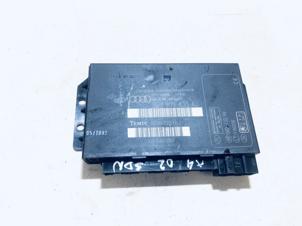 General Module Comfort Relay (Unit) Audi A4 2002    1.9 8E0959433AJ