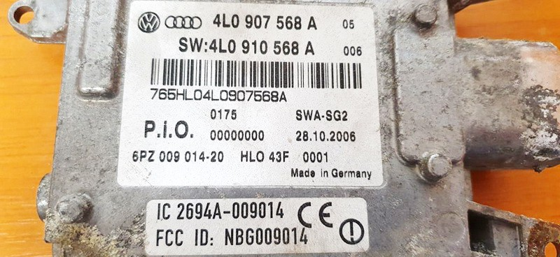 Radar Sensor ACC Flag Distance distronic Audi Q7 2007    3.0 4l0907568a
