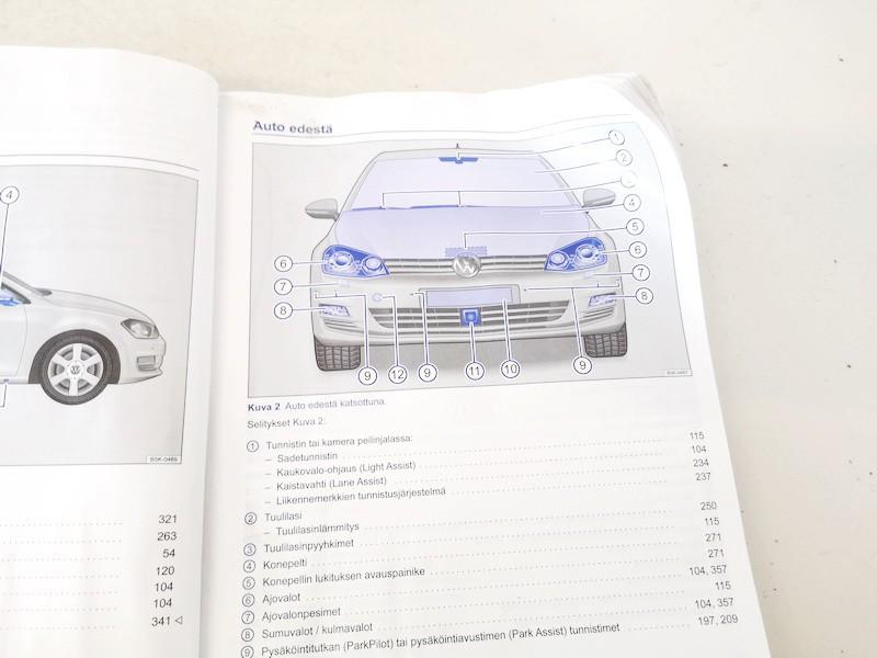 Manual Handbook Wallet (service manual) Volkswagen Golf 2013    1.2 used