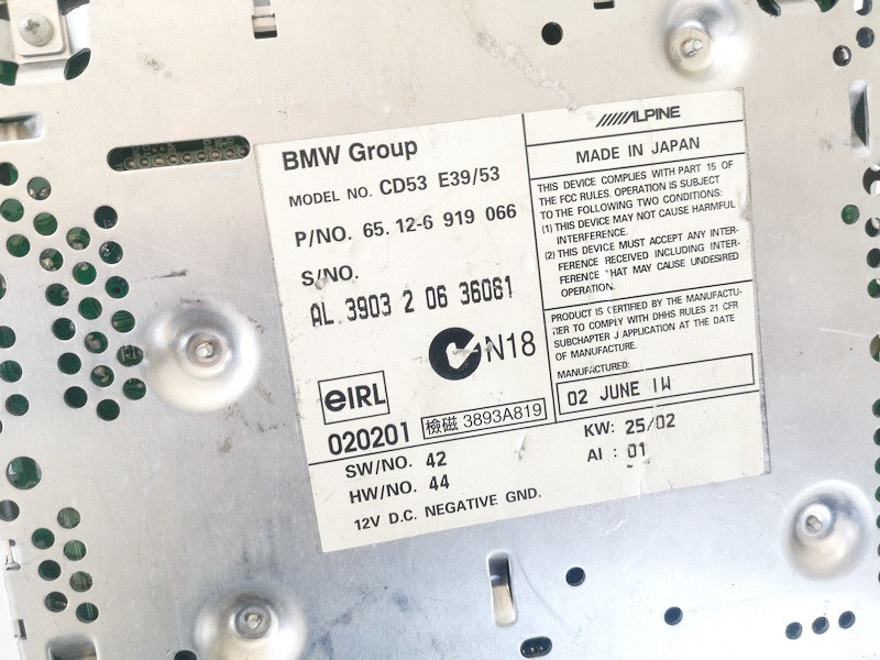 Navigacijos cd skaitytuvas BMW X5 2004    0.0 65126919066