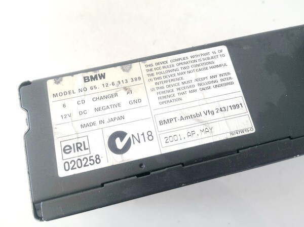 CD changers BMW 3-Series 2001    0.0 65126913389