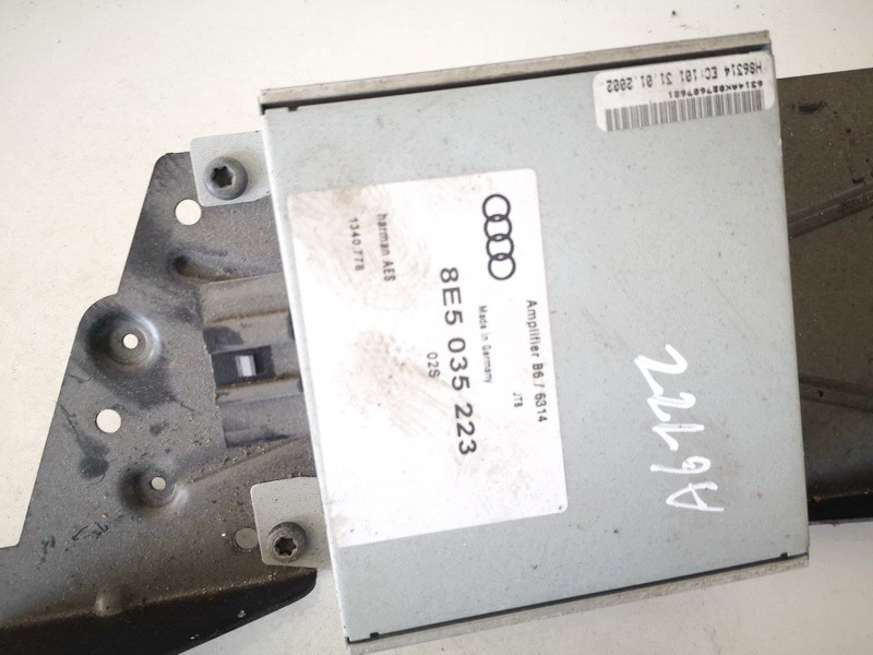 Audio amplifier (Radio Stereo Amplifier) Audi A4 2002    1.9 8e5035223