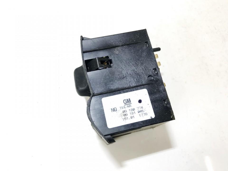 Headlight adjuster switch (Foglight Fog Light Control Switches) Opel Astra 2001    1.7 09180774