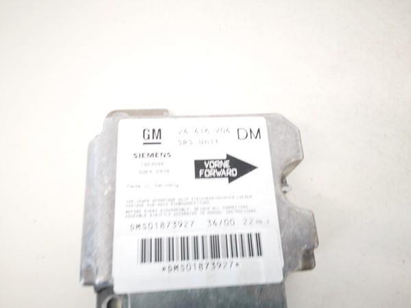 Airbag crash sensors module Opel Zafira 2000    2.0 24416704