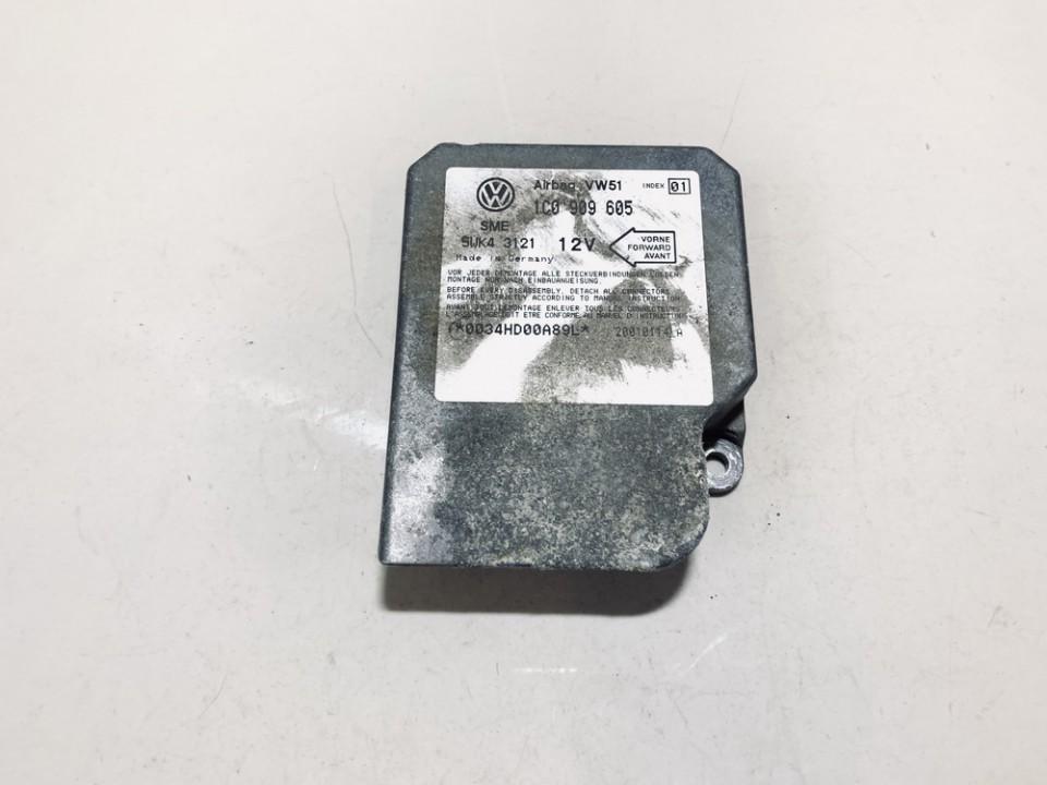 Airbag crash sensors module Volkswagen Sharan 2001    1.9 1c0909605