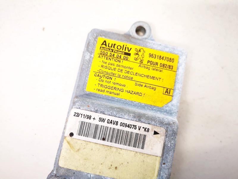 Airbag crash sensors module Peugeot 406 1998    2.0 9631847080