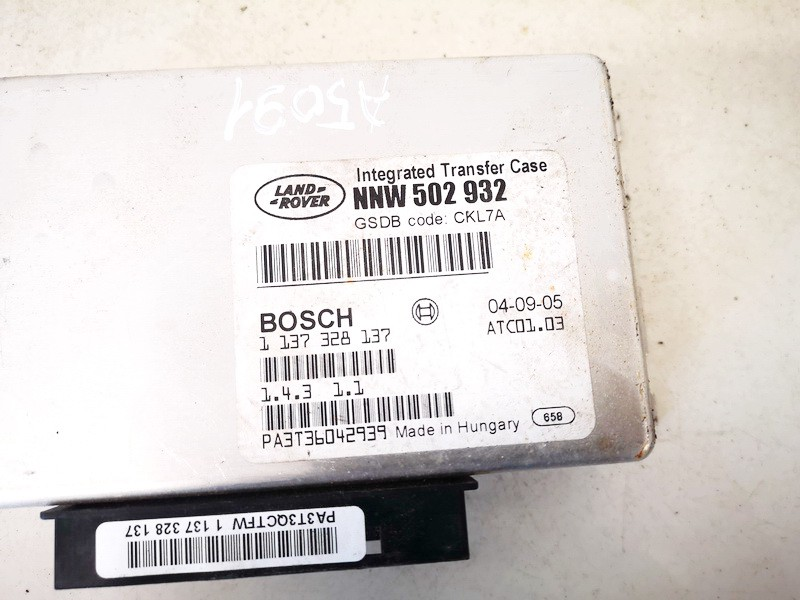 TRANSFER CASE CONTROL MODULE UNIT Land-Rover Discovery 2005    2.7 nnw502932