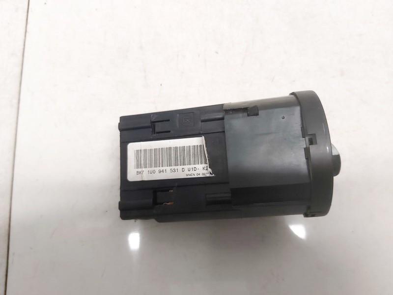 Headlight adjuster switch (Foglight Fog Light Control Switches) Skoda Superb 2006    2.5 1u0941531d