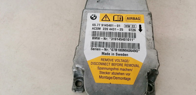 Airbag crash sensors module BMW 5-Series 2005    0.0 6577914540101