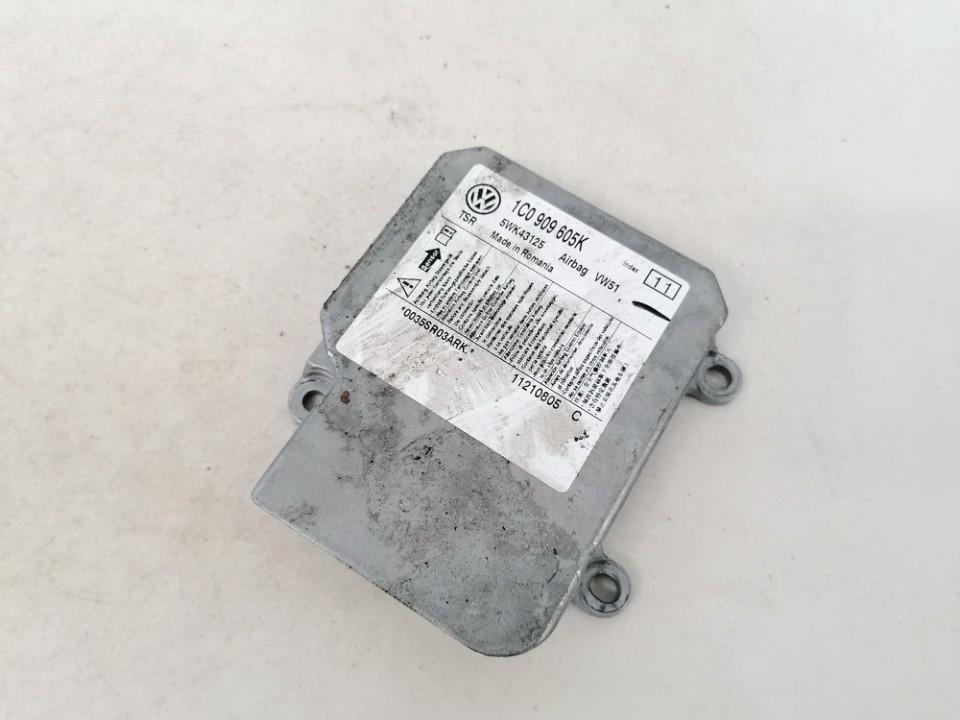 Airbag crash sensors module Skoda Roomster 2009    1.2 1c0909605k