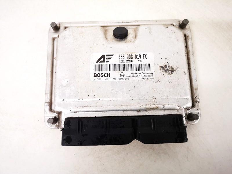 ECU Engine Computer (Engine Control Unit) Volkswagen Sharan 2002    1.9 038906019fc