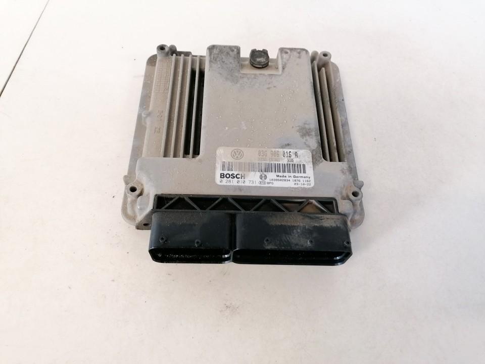 ECU Engine Computer (Engine Control Unit) Volkswagen Touran 2003    1.9 03g906016a